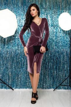 Велюровое платье-халат A-Dress 70281