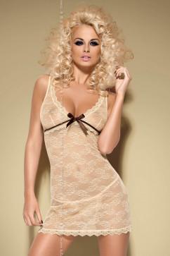 Сорочка Obsessive Caramella chemise карамельного цвета