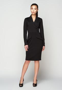 Черное маленькое платье с декольте A-Dress 707321