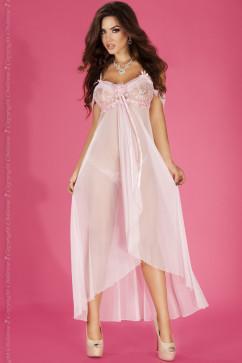 Нежно-розовая сорочка с расклешенным подолом Chilirose CR-3716
