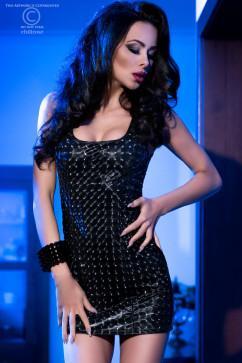 Черное платье с 3D эффектом Chilirose CR-4016