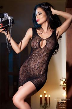 Платье с вырезом на груди Chilirose CR-4056