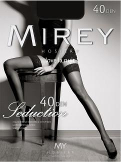 Чулки на кружевной резинке Mirey Seduction 40 den