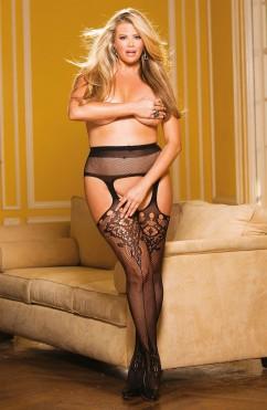 Чулки с поясом большого размера Shirley of Hollywood X90415