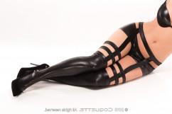 Сексуальные чулки  Coquette c-D1731(plus) Stokings черного цвета