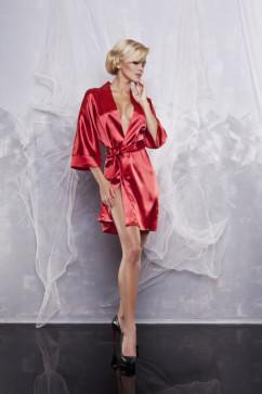 Красный женский халат с поясом DKaren 90