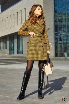 Двубортное платье-пиджак из твида Domenica Р 2650