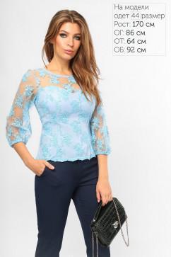 Элегантная гипюровая блуза LiPar 2110