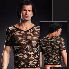 Эротическая камуфляжная футболка для мужчин