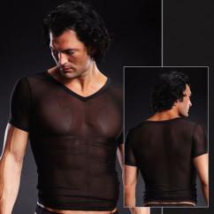 Мужская футболка с вырезом из сетки