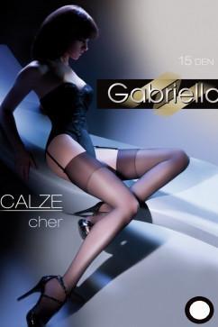 Белые чулки под пояс Gabriella Calze Cher 15 den
