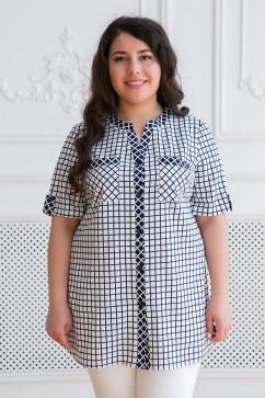 Хлопковая рубашка в клетку Tatiana АРМИНА