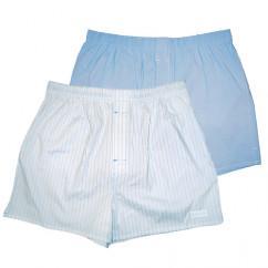 Голубые и белые мужские трусы-шорты