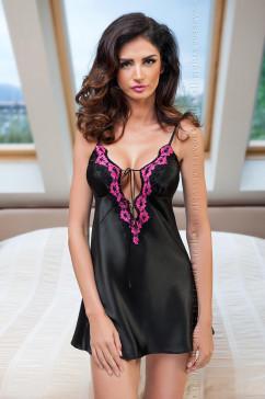 Черная сорочка с сексуальным вырезом Irall Salma