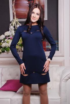 Обворожительное платье Irena Richi Волна темно-синего цвета