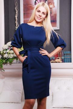 Платье-карандаш Irena Richi Жанна темно-синего цвета