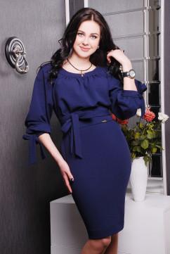 Роскошное темно-синее платье Irena Richi Гальяно