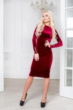Изящное бархатное облегающее платье миди Domenica Р 1556
