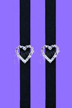 Черные бретели для бюстгальтера Julimex RB-91 с сердечком