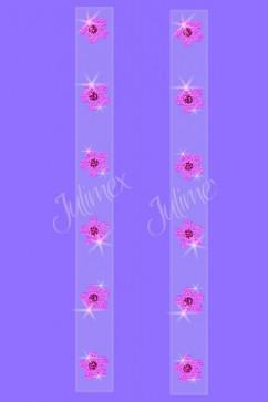 Силиконовые лямки в цветочек Julimex RK-126