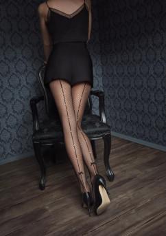 Колготки из мелкой сеточки Marilyn Gucci G40 15 den