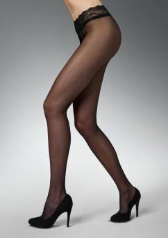 Колготки с кружевным поясом на силиконе Marilyn Erotic V B 15 den