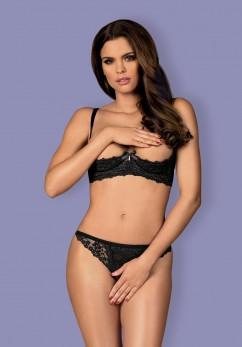 Комплект с прорезью и открытой грудью Obsessive Letica cupless set