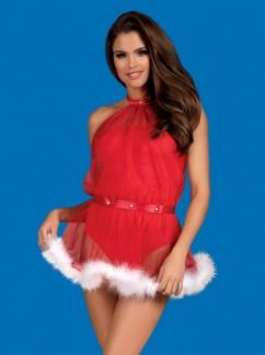 Короткое новогоднее платье Obsessive Santastic dress