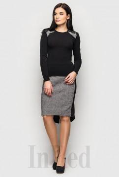 Костюм из теплой юбки и мягкого свитера InRed TWEED