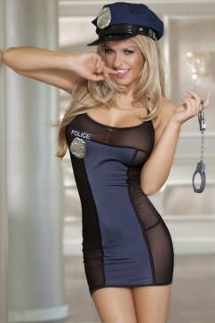 Костюм полицейской с наручниками Sunspice 81309