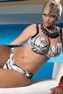 Купальник для большой груди Kris Opal: бюстгальтер с мягкими чашками и трусики-танга