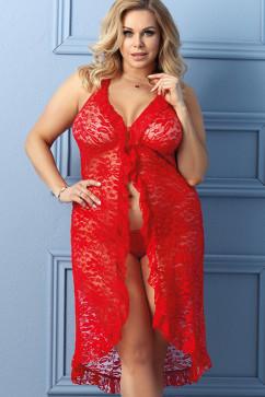 Кружевное платье-пеньюар Anais Dion
