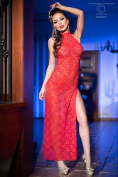 Кружевное платье в пол ChiliRose CR-3506