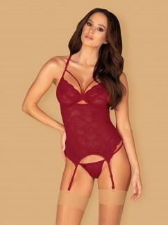 Кружевной корсет на косточках Obsessive Ivetta corset