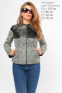Куртка короткая с кожаной кокеткой LiPar 6255