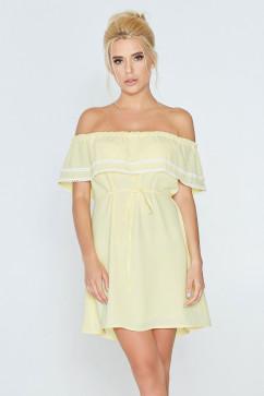 Летнее платье с рюшей на груди Nenka 599