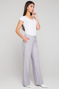 Льняные брюки с лампасом A-Dress 30020