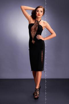 Платье до колен. украшенное фигурными шнуровками Me Seduce Maxima black