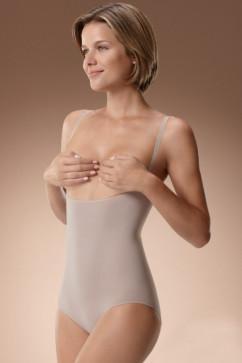 Корректирующее боди с открытой грудью Plie 50419 бежевого цвета