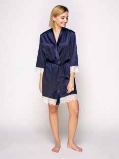 Модный синий халатик Serenade 461
