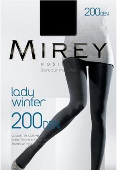Непрозрачные теплые колготки Mirey Lady Winter 200 den