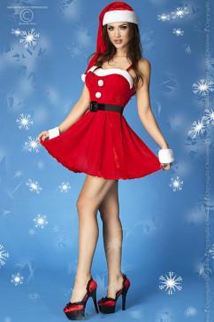 Новогоднее платье снегурочки ChiliRose CR-3718