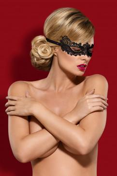 Гипюровая маска на завязках Obsessive A701