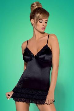 Соблазнительный эротический комплект Obsessive Blackbella chemise