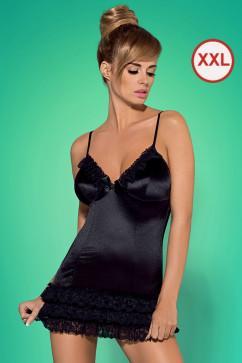 Эротический комплект большого размера Obsessive Blackbella chemise XXL