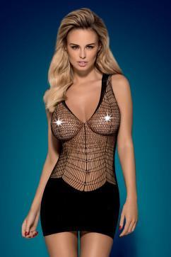 Мини-платье с верхом в стиле «рыболовная сеть» Obsessive D603