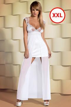 Сорочка с длинным полупрозрачным подолом Obsessive Feelia gown большого размера