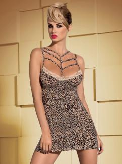 Леопардовая сорочка Obsessive Jungirl chemise