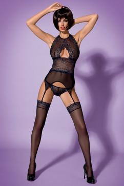 Эротический кружевной комплект Obsessive Oriens corset