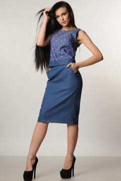 Однотонная юбка-карандаш Ри Мари Джеки
